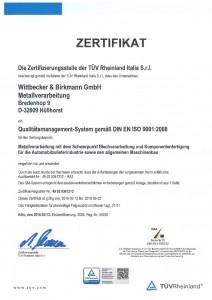 Zertifikat / Zertifizierung