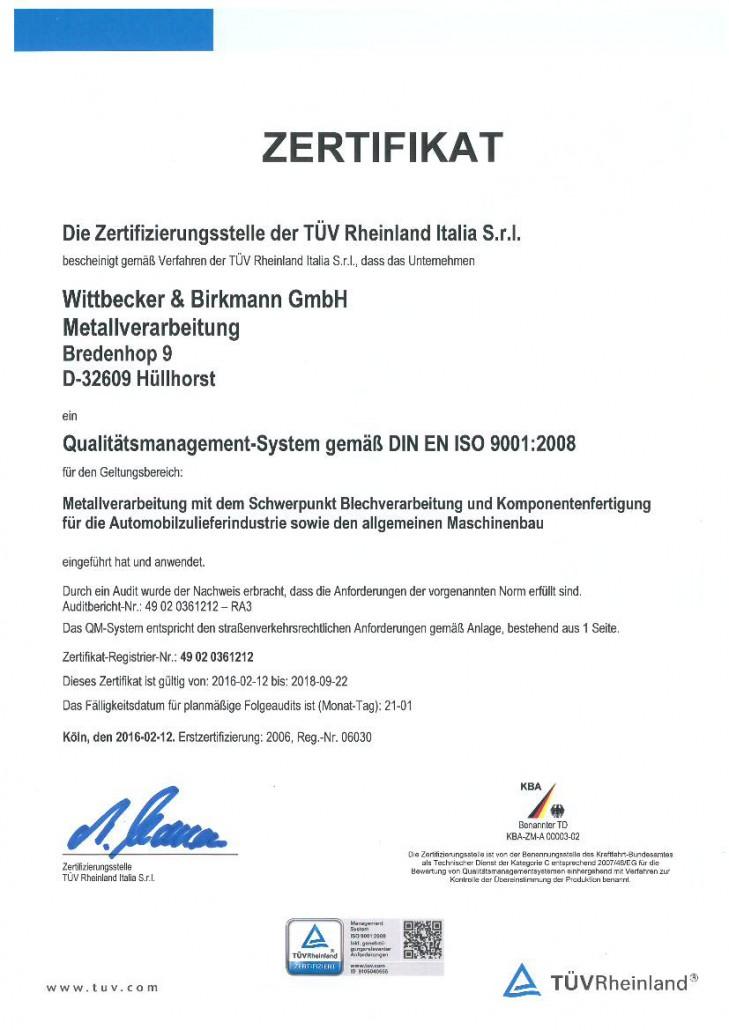 Zertifikat 2016-1