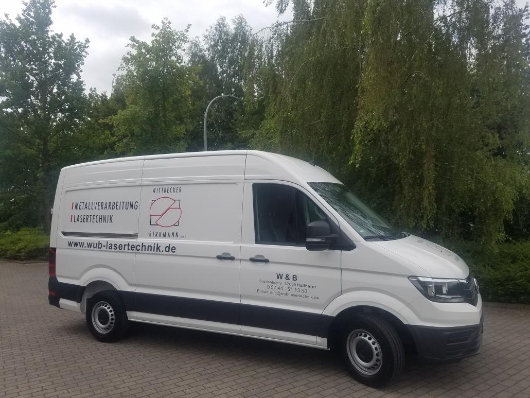 Transporter mit Wittbecker&Birkmann Logo